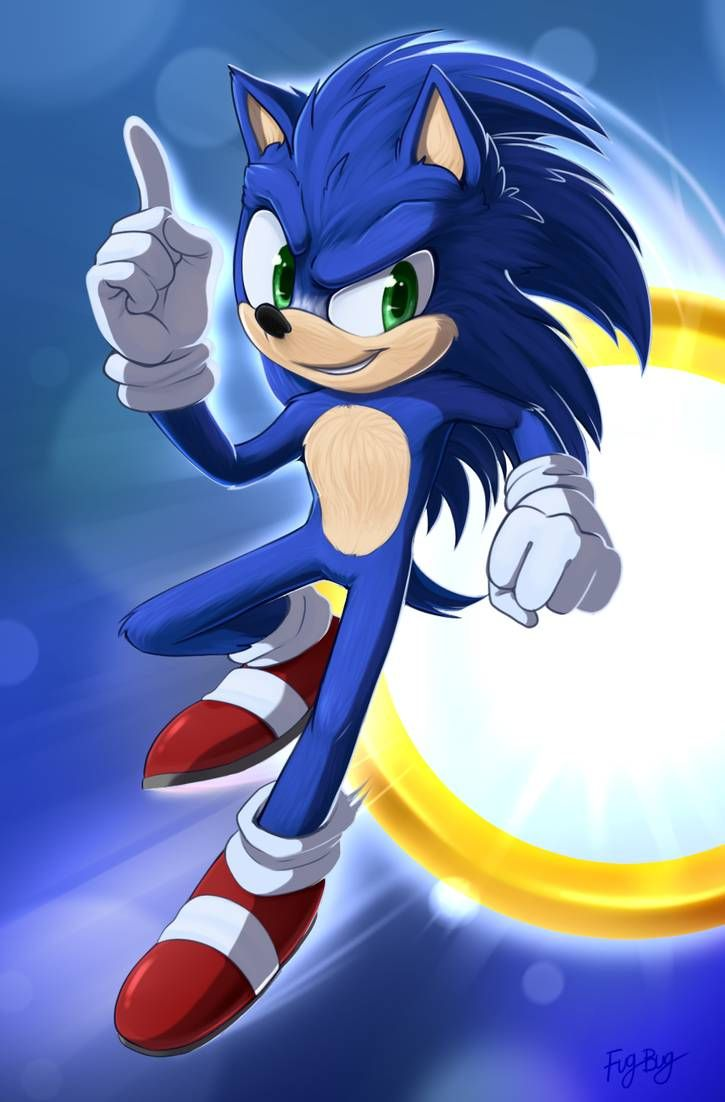 Movie Sonic By Fug Bug On Deviantart In 2020 Sonic Sonic The Hedgehog Sonic Fan Characters