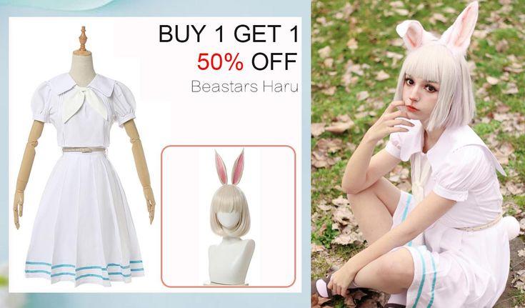 Beastars haru white dress short and long sleeve school
