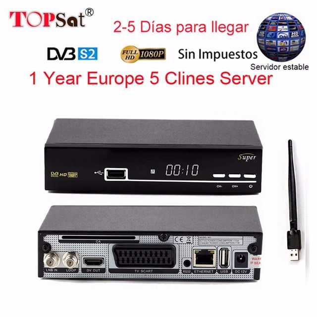 Receptor Dvb S2 Hd Fta Satellite Tv Receiver Europe Clines For 1 Year Usb Wifi Spain Free Satellite Tv Decoder Review Satellite Tv Usb Satellites