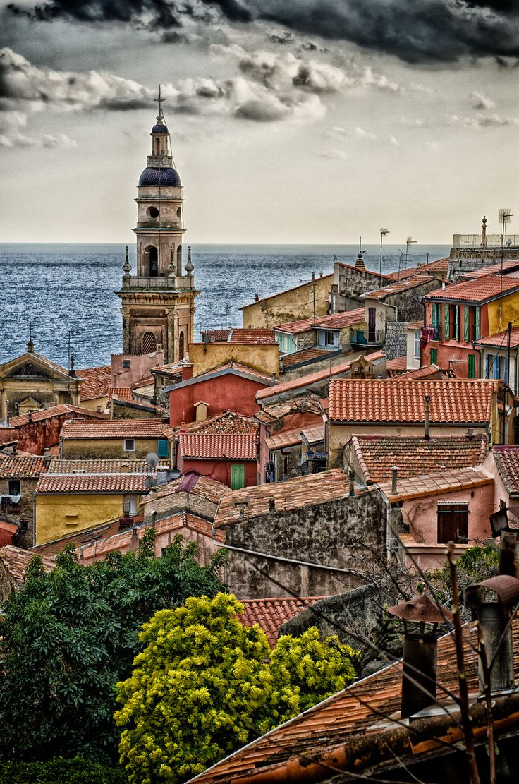 Menton, France - THIS IS A VIEW OF THE OLD TOWN OF MENTON, SOUTH OF FRANCE. HDR TREATMENT. IF YOU CLICK AND ZOOM ON THE MAP, YOU CAN SEE THE EXACT LOCATION OF THE SHOT.