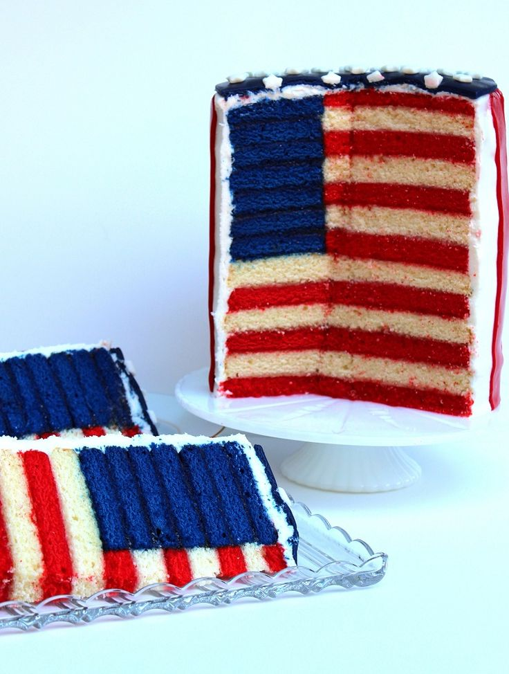 The Glorious Red, White and Blue-For Cake | Cakes, Red and Blue Cakes
