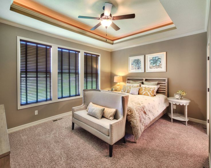 Box Vault Ceiling With Lighting Tray In Master Bedroom Of