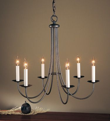 Simple Lines 6 Arm Chandelier   101160