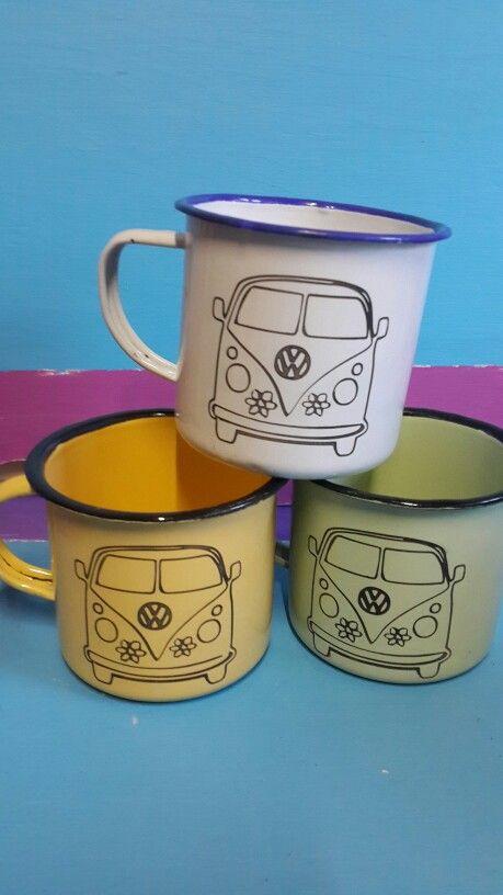 VW enamel mugs