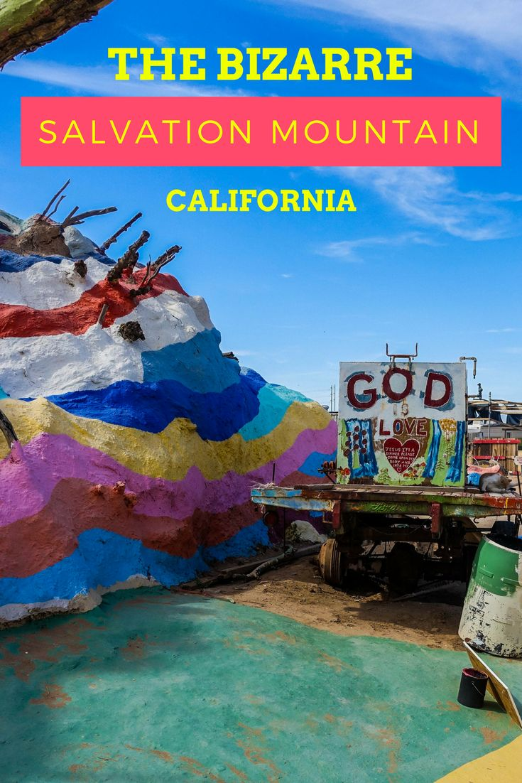 Salvation Mountain is the brainchild of Leonard Knight.  In effect, the impressive artwork is a tribute to God, with the main and compelling message; God is Love.  Salvation Mountain, California.  How to get to Salvation Mountain.  Where is Salvation Mountain? Salvation Mountain, USA.