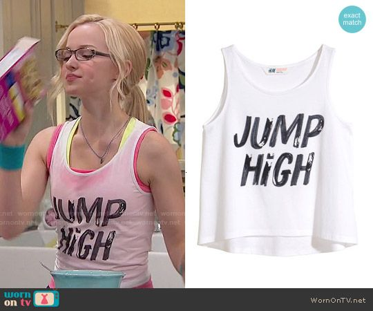 Maddie's 'Jump High' tank top on Liv and Maddie.  Outfit Details: http://wornontv.net/51848/ #LivandMaddie