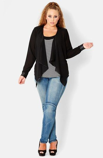 City Chic Cascade Jacket (Plus Size) available at #Nordstrom