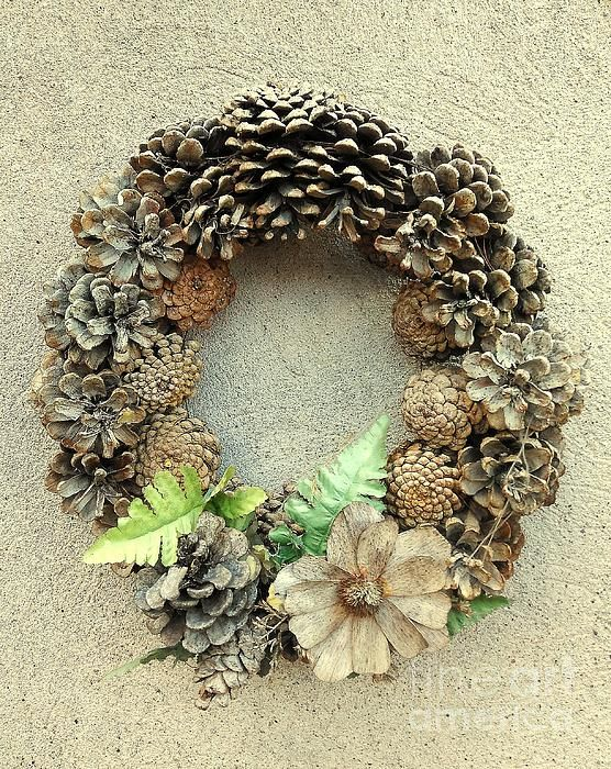 Autumn Photograph - Autumn Wreath by Erika H