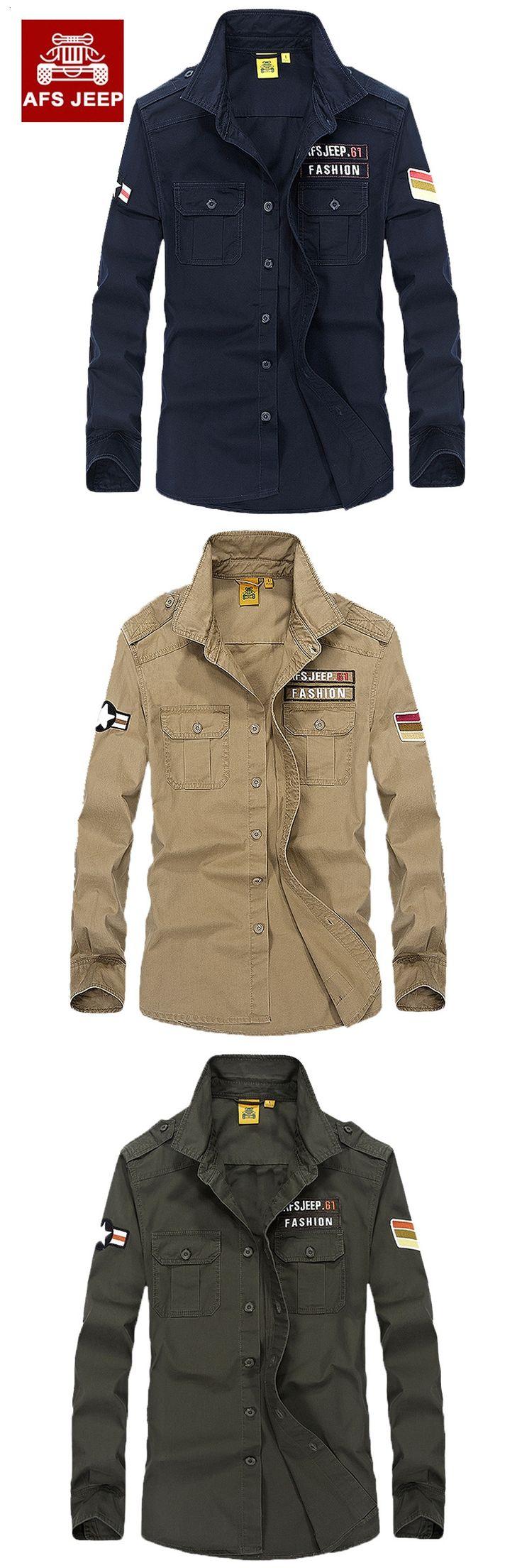Brand 100% Cotton Men Combat Military Army Shirts Cargo Shirts Uniform Long Sleeve Men's Spring Casual Shirts Camisas 2001
