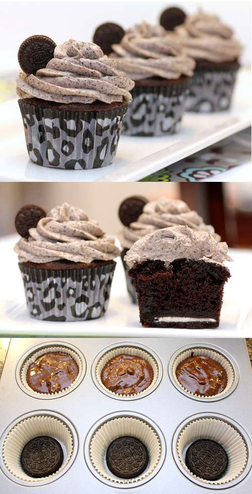 Death by Oreo cupcakes- I made these tonight for my husbands bday and they turned out great!! Super easy recipe to follow...a bit time intensive but I was done from start to finish in under an hr!