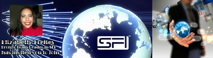 Welcome to SFI !! A company that enables you to earn online!!  For over 13 years SFI is showing men and women from all over the world how to make an extra income from their home ,using nothing else but their computers .There is no signing up costs,no need of investments, NO RISK!! ENTER and learn how to create residual income that grows each month indefinitely!!    for more information visit : http://www.elizabethssfiproffesionalblog.blogspot.com/