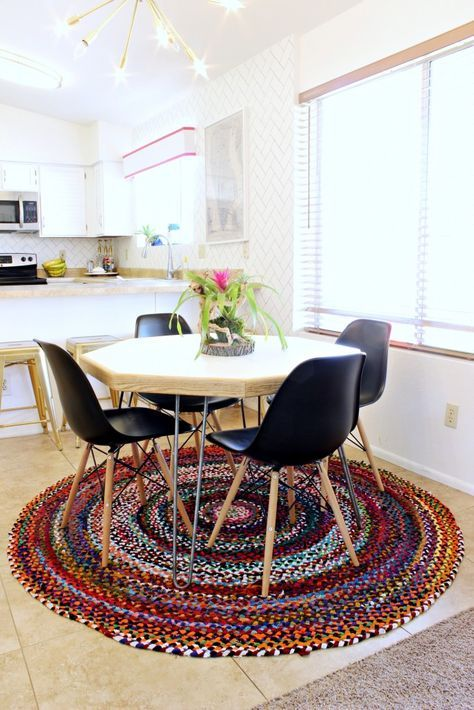 Easy DIY Hexagon Table and How to Paint Laminate