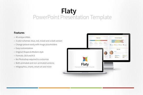 Flaty PowerPoint Template by hey! on Creative Market