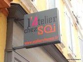 Enseigne drapeau Atelier Chez Soi Montauban