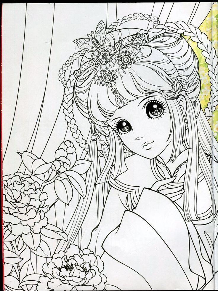 Pin by B.M. on Coloriages Manga | Princess coloring pages ...