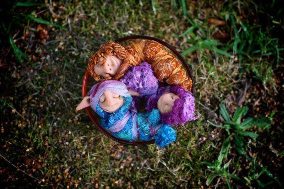 OOAK  handmade Gozob  Cocoonies Baby sleeping by efinadesigns