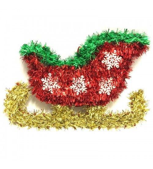 Mega Sale on #Christms_Products Buy #Tinsel_Wall_Plaque_Sleigh at Low Price #4_Pound Shop Now :http://www.4pound.co.uk/tinsel-wall-plaque-sleigh