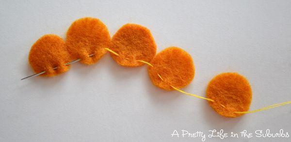 Cozy Fall Yarn Wreath - like the flowers