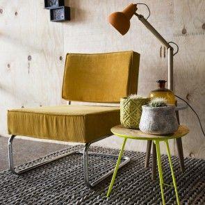 Ridge fauteuil Zuiver geel | Musthaves verzendt gratis