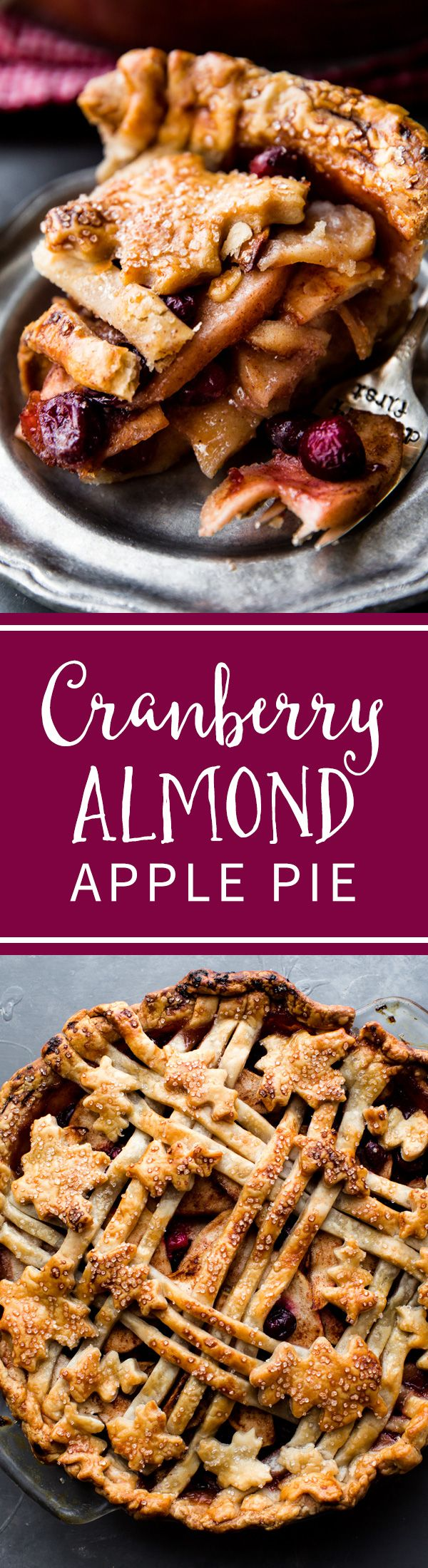 This cranberry almond apple pie is the Thanksgiving dessert that everyone will be talking about! The flavor is divine and it couldn't be easier to make.