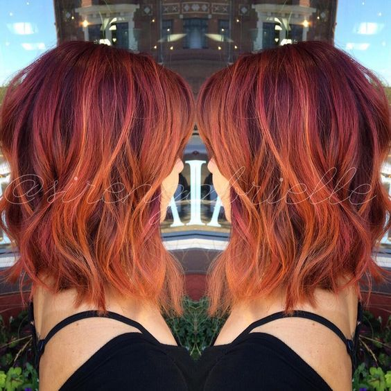 Best 25 Red Long Bob Ideas On Pinterest Graduated Bob