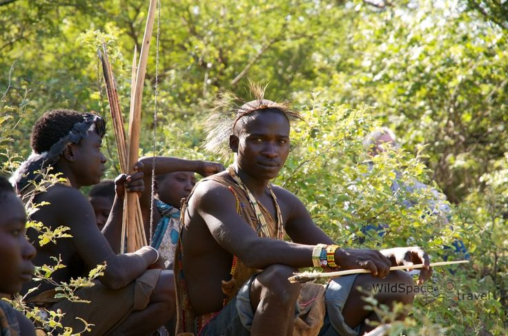 Hadzabe hunters take a short rest and regroup after their hunt. #Tanzania #Hadza #tribe