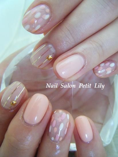 cute pink nude #nail #nails #nailart #unha #unhas #unhasdecoradas #rosa #nude