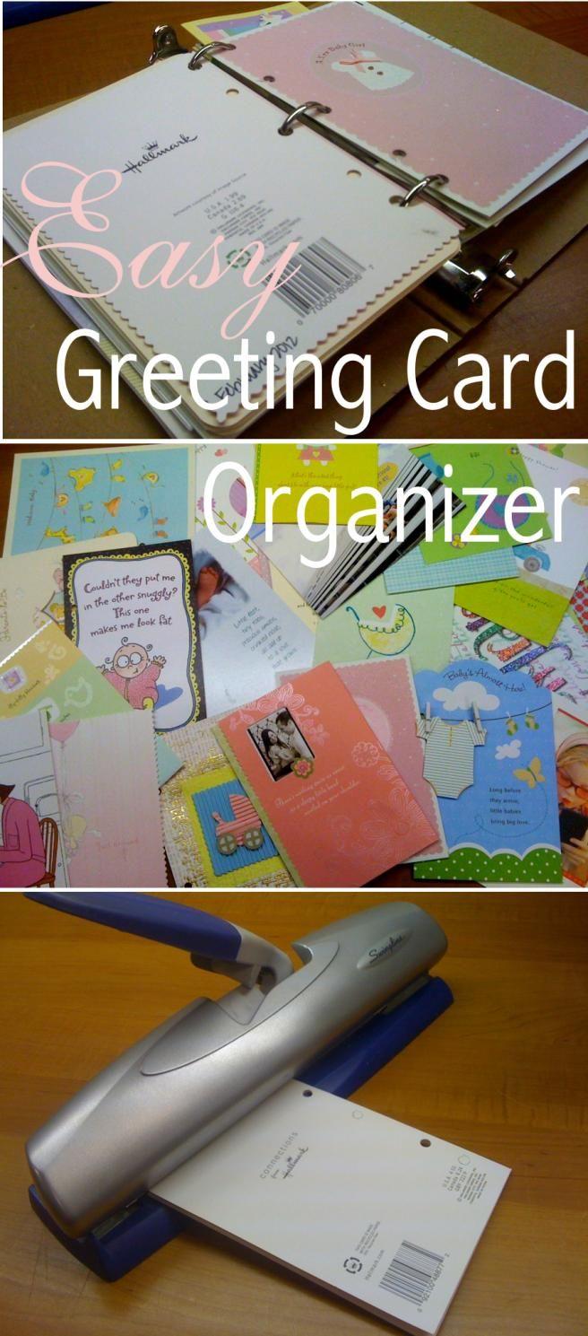 Making a greeting card organizer