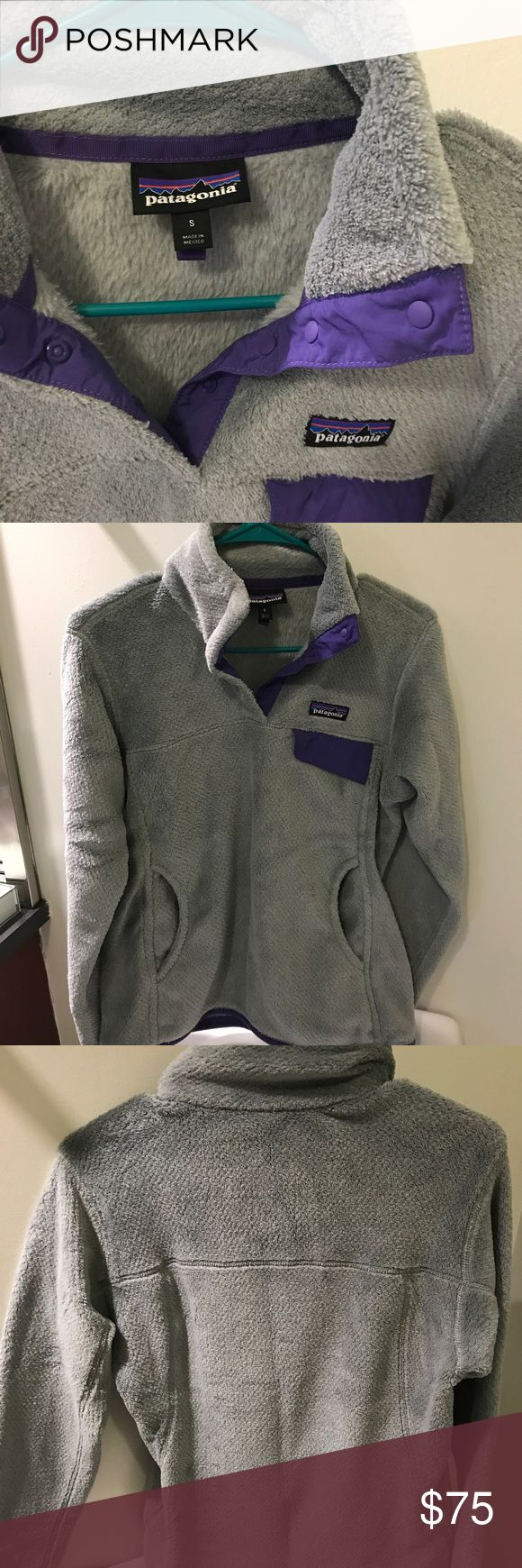 Patagonia Fleece Snap T Pullover Lightly used Patagonia Fleece Pullover.  I live South and it rarely gets used and never get to wear it hardly ever gets cold enough. Patagonia Tops Sweatshirts & Hoodies