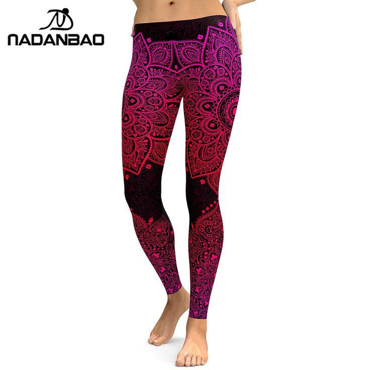 New Arrival Women Leggings Red mandala Aztec Round Ombre Leggins Fitness 3D //Price: $16.06 & FREE Shipping //     #legginsonline