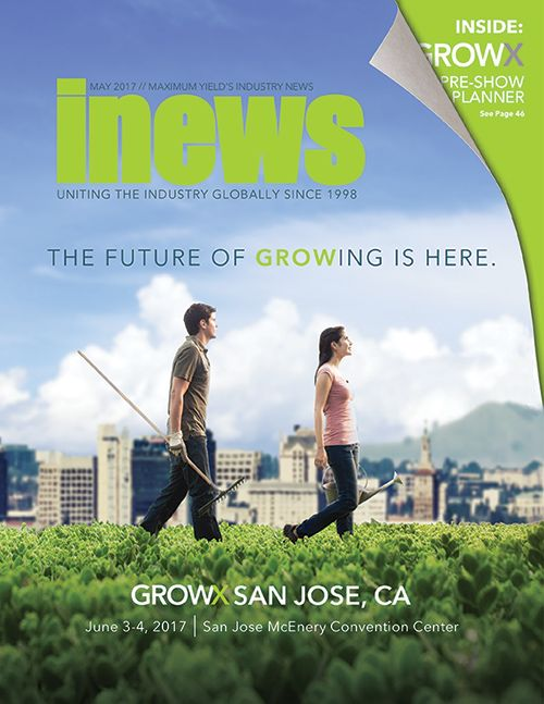 In this issue of Maximum Yield's Inews, we showcase all the details on the upcoming GrowX Modern Growing Conference + Expo happening June 3-4 in San Jose, CA. GrowX features new exhibits and interactive displays, an informative speaker series, product launches you won't want to miss, a private business lounge, and tailored networking events. This issue also features the latest news from established businesses like Growth Science Nutrients and the Elemental Wellness Dispensary.