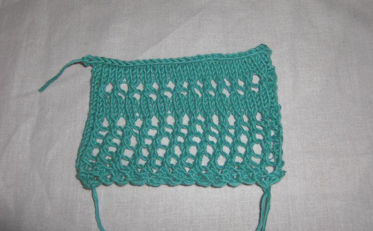 Jednoduchý letný dierkovaný vzor na pletenie