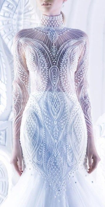 Beaded gown / michael cinco