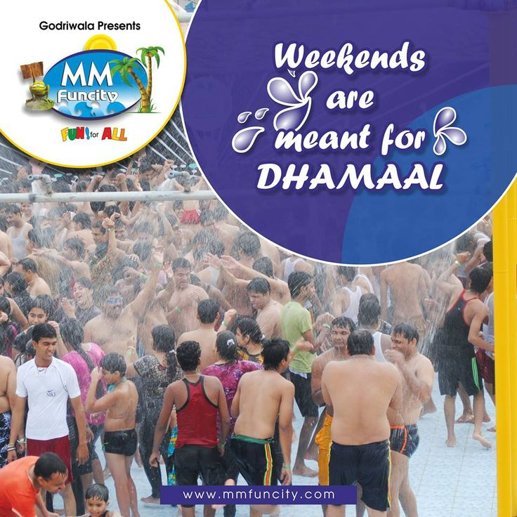 Looking forward to have a #weekend Dhamaal with #friends? Visit #MMFunCity today. #WaterPark #Chhattisgarh #WeekendFun