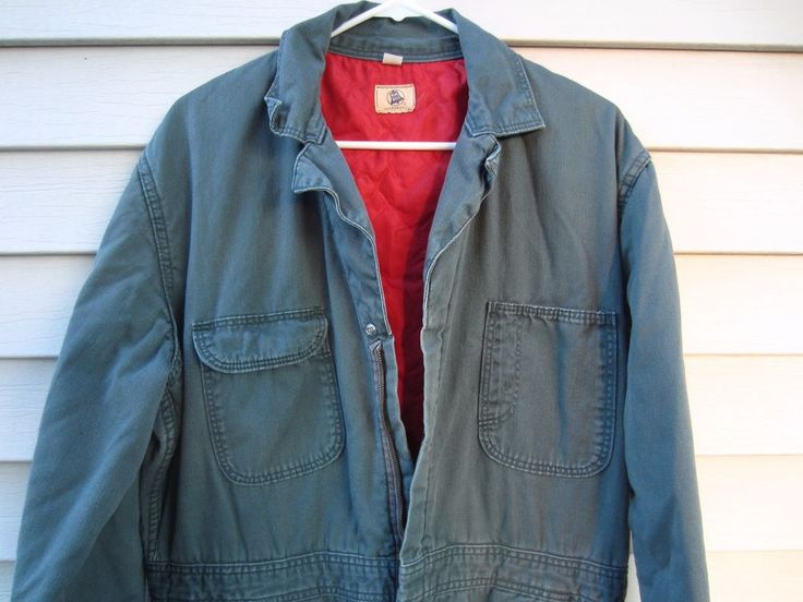 Vintage Blue Bell Coveralls Sanforized Quilted Wrangler Mechanic Jumpsuit 42R #BlueBell