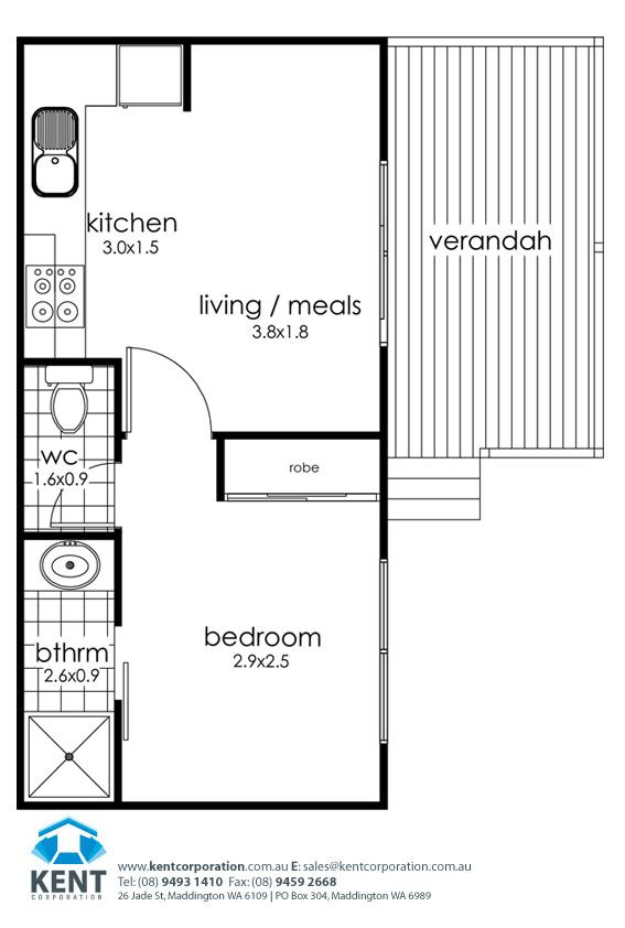 single garage conversion to bedroom - Google Search | Home w/Conversion. |  Pinterest | Bedrooms, Granny flat and Granny flat plans