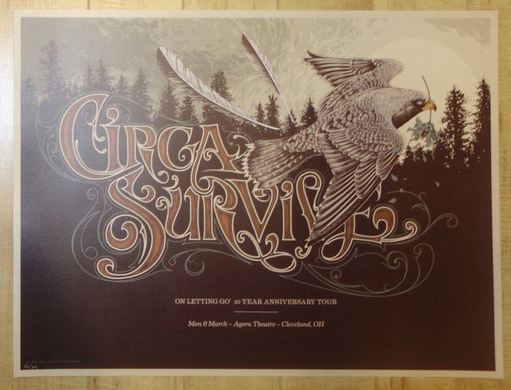 2017 Circa Survive - Cleveland Concert Poster by Alex Wezta