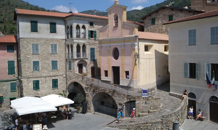 Piazza Vittorio Veneto - One of the main attractions in Apricale.