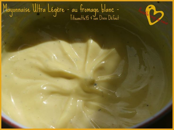 MAYONNAISE ULTRA LIGHT - AU FROMAGE BLANC -