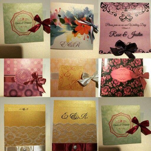 Custom wedding invitaions from wallineed.com