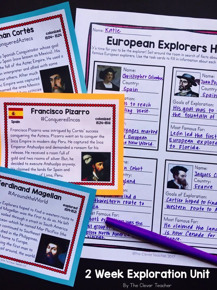 In This 2 Week Unit Students Will Learn All About The Age Of Exploration And Its Effects This Unit Contai Social Studies History Lessons Social Studies Lesson Age of exploration worksheets