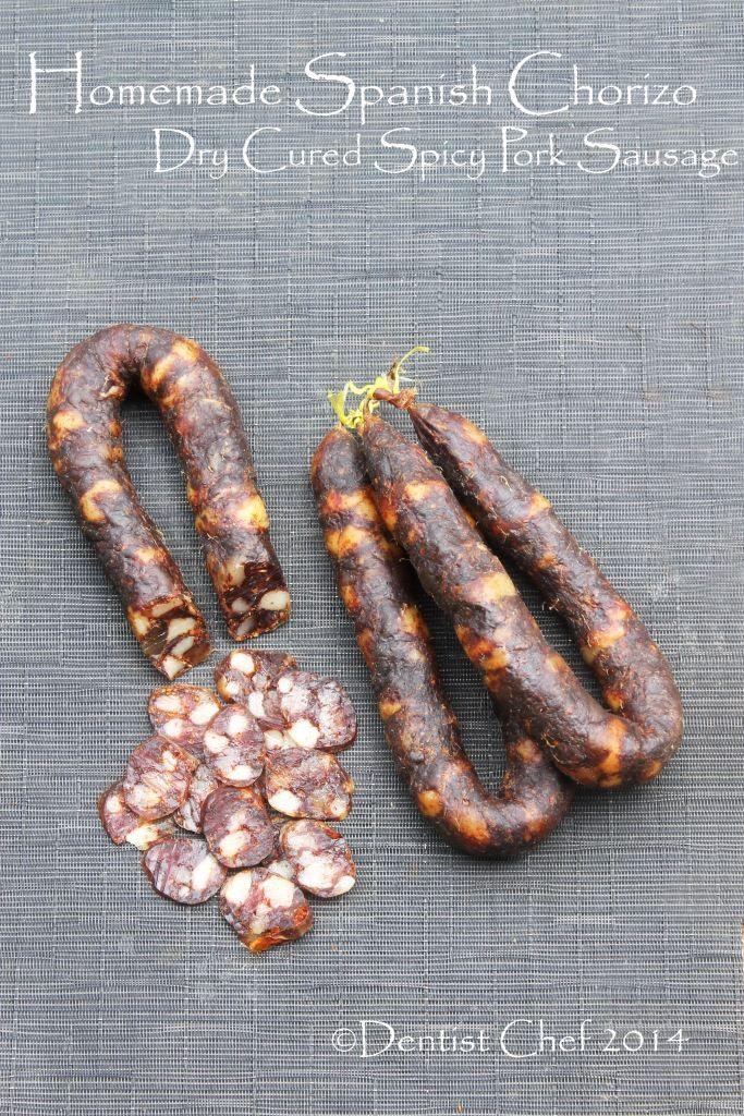 Recipe for Homemade Spanish Chorizo Sausage (Pig Intestine Spicy Smoked Paprika Pork Sausage) :
