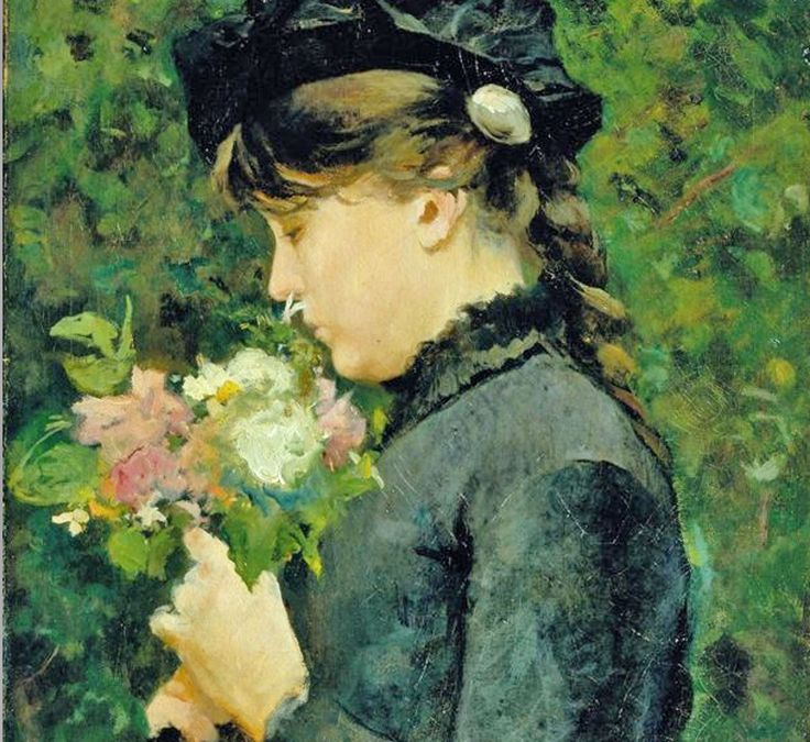 ⊰ Posing with Posies ⊱ paintings of women and flowers - Silvestro Lega Macchiaioli | Portrait of Eleonora Tommasi