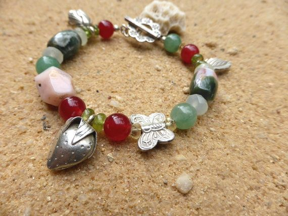 Bracelet Summertime Hill Tribe Silver Charms Ocean by Lapideum