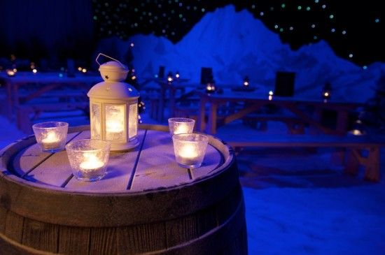 Event Prop Hire: One of our corporate clients got the twilight alpine look just right!