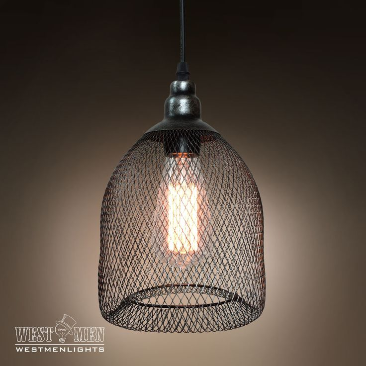 Westmenlights Industrial Rustic Metal Mesh Pendant Light Ceiling Lamp Shade Vintage Brushed Nickel Pendant Light MESEL