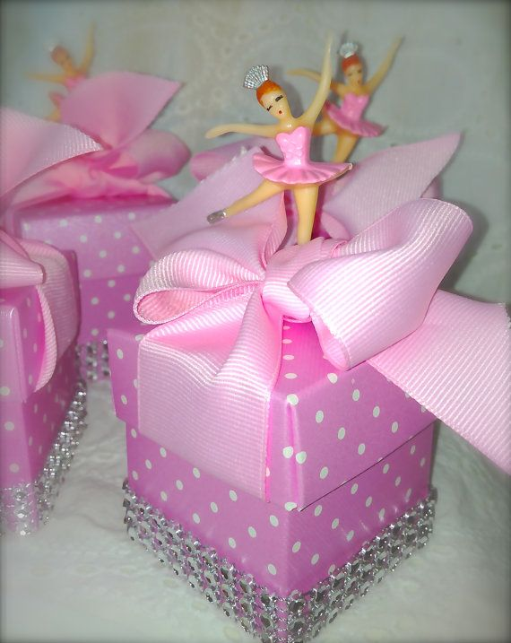 party favors pink princess favor boxes ballerinas baby shower shower
