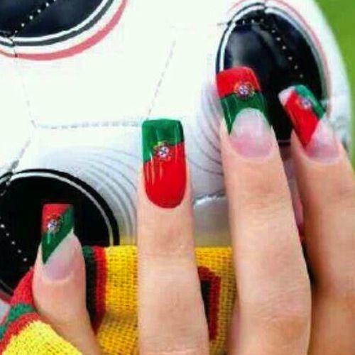 Ultimate World Cup Nail Art 2014 Gallery - #Trending Nail Art 2014 | #portuguese #portugal #futbol
