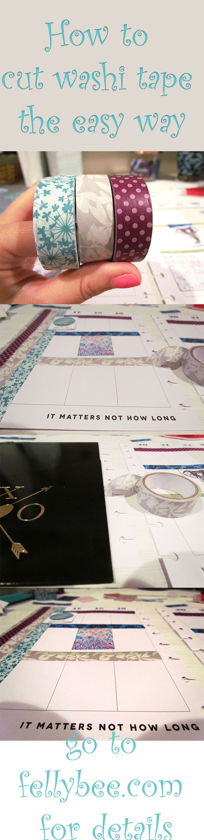 How to cut washi tape for glam planning!