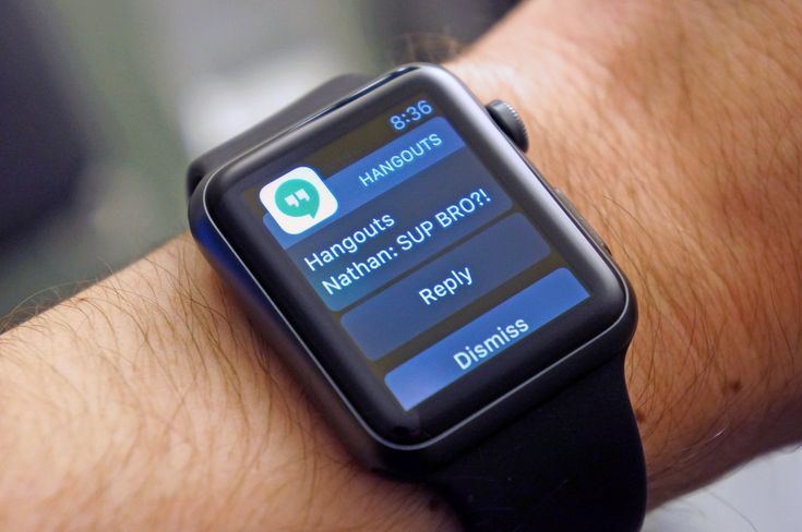 Google Hangouts finally supports Apple watch The latest update for Hangouts on iOS won't tell you this but Google's instant messaging app will play nicely with your Apple Watch now. What the change log does say however is that you can now reply to notifications in-line -- but that means following up via Apple's wearable is an option. You can pick from a handful of pre-written responses but those don't include canned messages for telling your coworker to bring funky-flavored KitKat bars from…